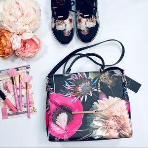 Ted Baker London Floral Flip Top Handle Bag